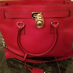 Michael Kors Saffiano bag and MK wallet